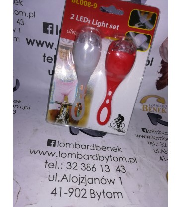 Zestaw lampek Rowerowych BL008-9 Nowy! / Alojzjanów