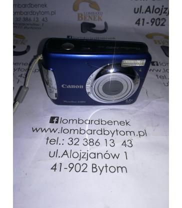 Aparat Canon A480 Niebieski (na baterię) + Karta Pamięci 2 GB / Alojzjanów