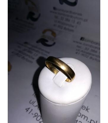 Złota obrączka m:2.7 p:585 r:28 /Alojzjanów
