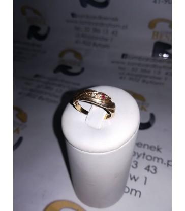 Złoty pierścionek m: 2.2 p:585 r:17 /Alojzjanów