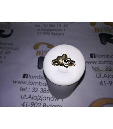 Złoty pierścionek m: 1.3 p:585 r:19 /Alojzjanów